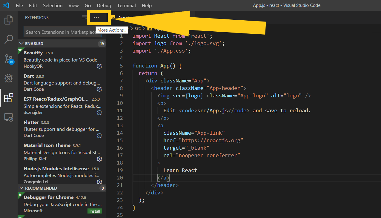 How to show all installed extensions in VS Code   Kindacode